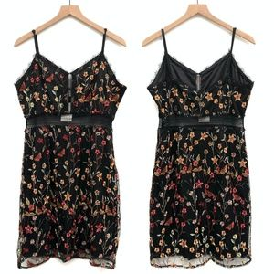 NSR Dresses - New NSR Black Embroidered Lace Dress - Size XL